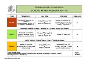 2017 school year calendar